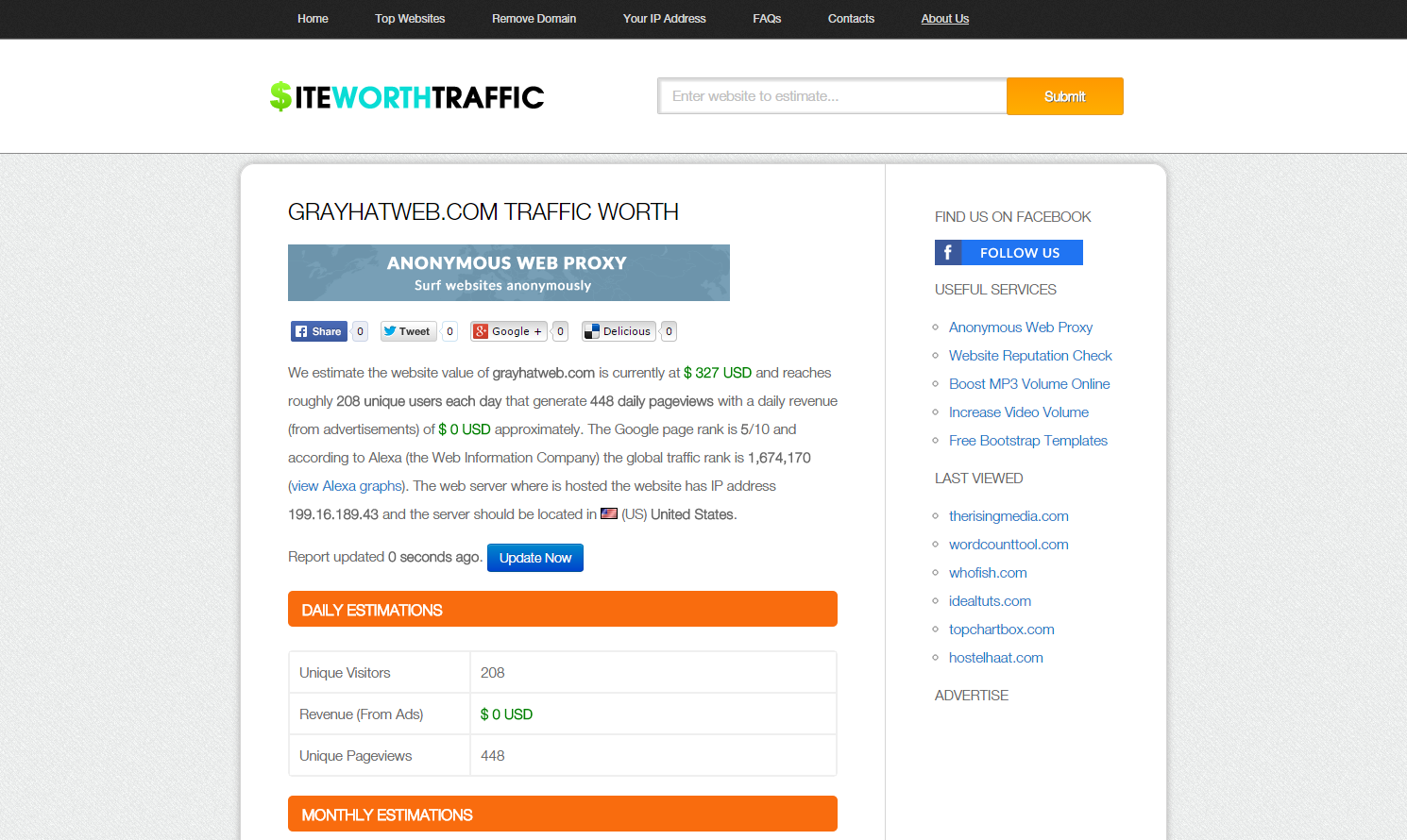 Site Worth Traffic